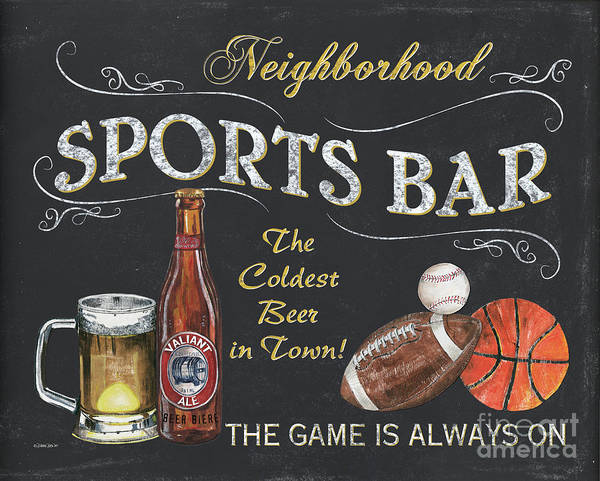 Label Painting - Sports Bar by Debbie DeWitt