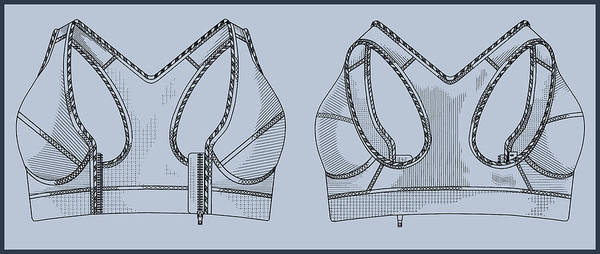 Painting - Sports Bra by Inventor Andre Zagame