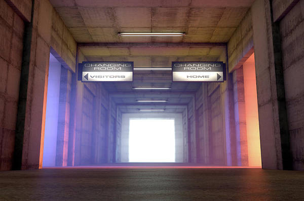 Entrance Digital Art - Sports Tunnel Competitor Change Rooms by Allan Swart
