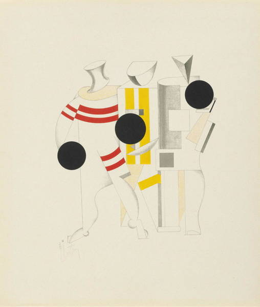 Jogging Painting - Sportsmen by El Lissitzky