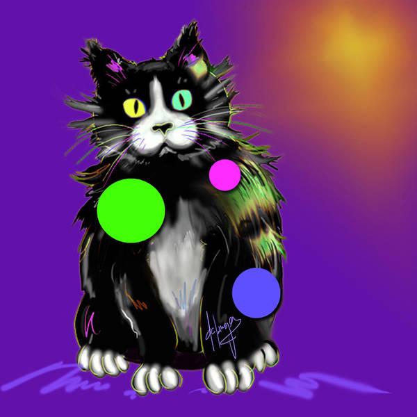 Painting - Spot Dizzycat by DC Langer