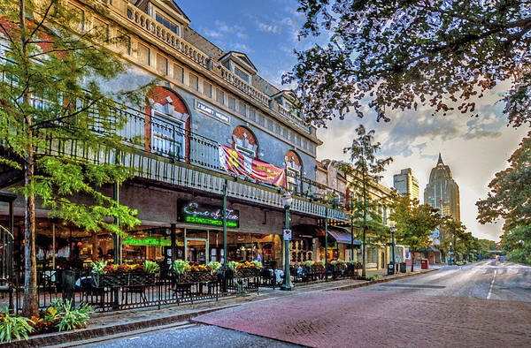 Photograph - Spot Of Tea Early Morning On Dauphin St Mobile Alaabama by Michael Thomas