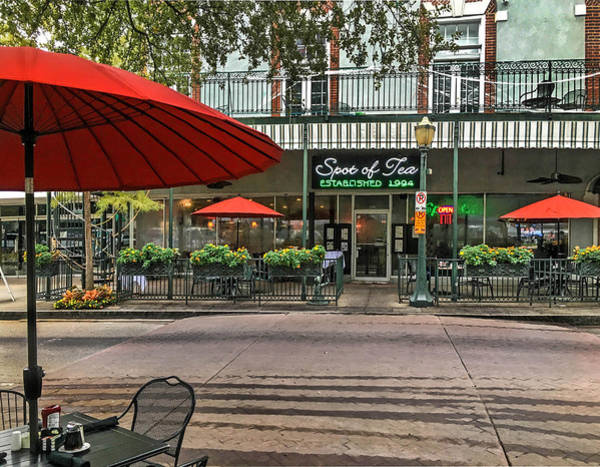 Photograph - Spot Of Tea Front With Umbrella In Mobile Alabama by Michael Thomas
