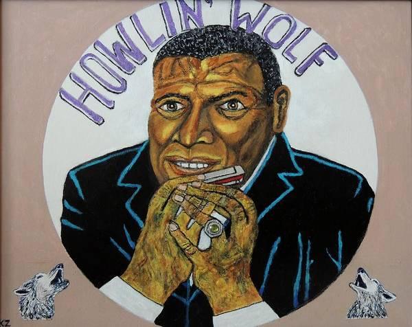 Spotlight On The Wolfman. Art Print by Ken Zabel