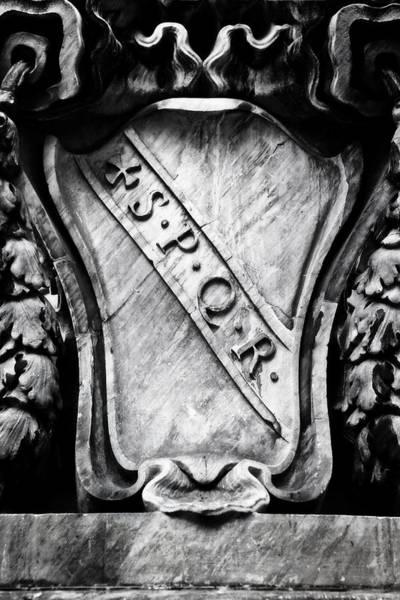 Inscription Photograph - Spqr by Joana Kruse