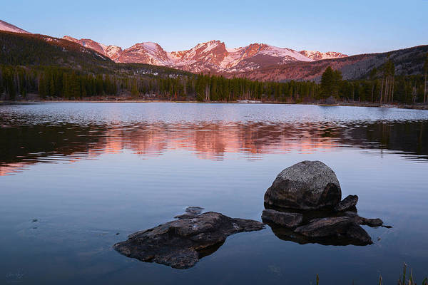 Photograph - Sprague Lake Sunrise by Aaron Spong