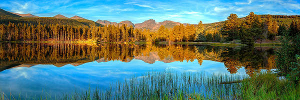 Photograph - Sprague Lake Sunrise Panorama by John Vose