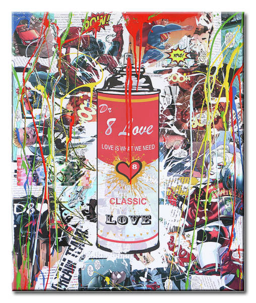 Variation Mixed Media - Spray Can 8 by Dr Eight Love
