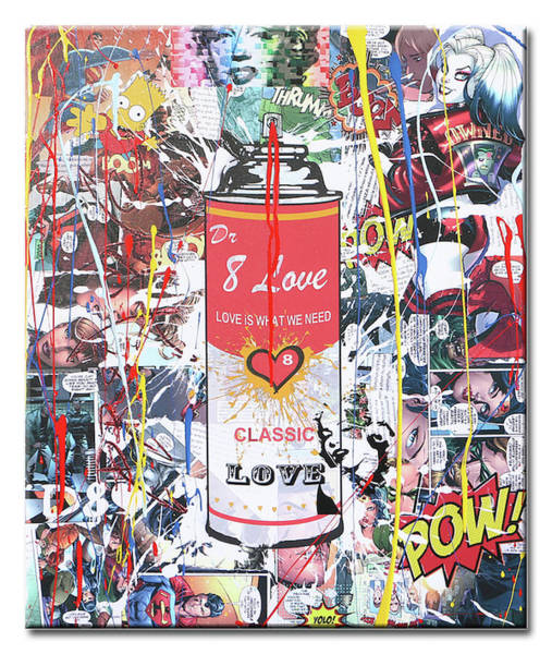 Variation Mixed Media - Spray Can2 by Dr Eight Love