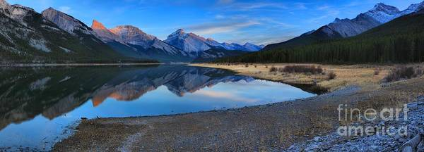 Photograph - Spray Lake Sunset Panorama by Adam Jewell