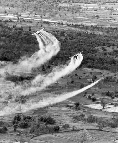 Wall Art - Photograph - Spraying Agent Orange by Underwood Archives