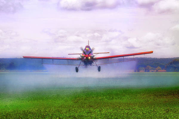 Photograph - Spraying The Fields - Crop Duster - Aviation by Jason Politte