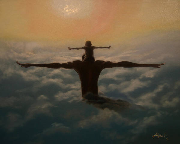 Father Sky Wall Art - Painting - Spread Your Wings by Jerome White
