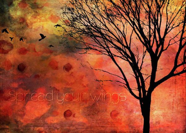 Believe In Yourself Digital Art - Spread Your Wings by Randi Kuhne