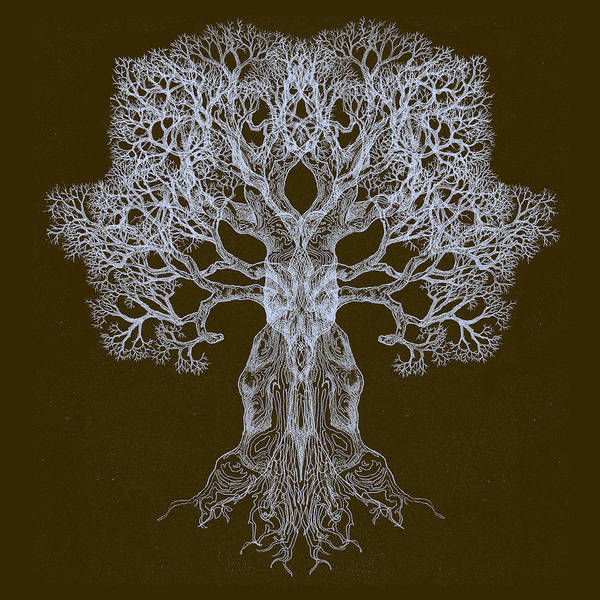 Spreading In Every Direction Tree 13 Hybrid 3 Art Print