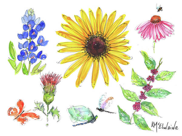 Painting - Spring 2017 Medley Watercolor Art By Kmcelwaine by Kathleen McElwaine