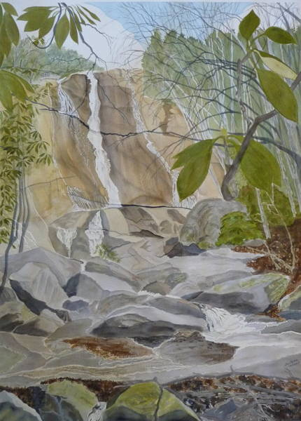 Spring Afternoon At The Falls Art Print