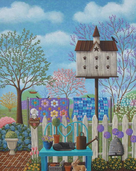 Birdhouse Painting - Spring Air by Mary Charles