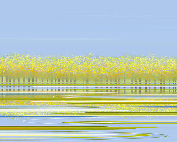 Digital Art - Spring Along The River by Val Arie