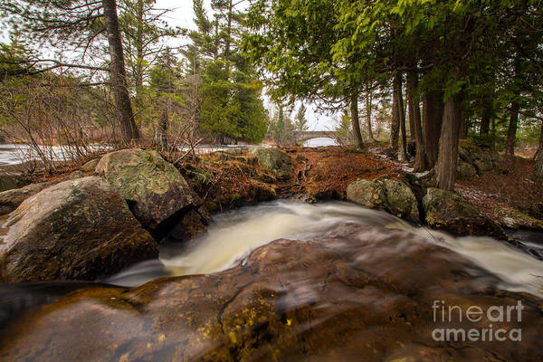 Photograph - Spring At Bog River Falls by Rod Best