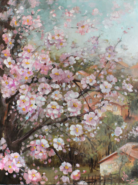 Wall Art - Painting - Spring At Country Side by Vali Irina Ciobanu