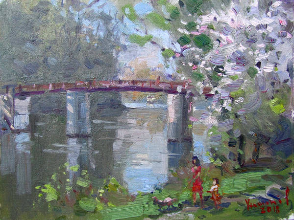 Wall Art - Painting - Spring At Dog Walking Park by Ylli Haruni