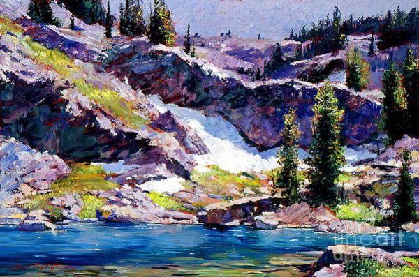 Mountain Lake Painting - Spring At Jade Lake by David Lloyd Glover