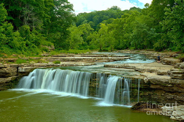 Photograph - Spring At Lower Cataract Falls by Adam Jewell