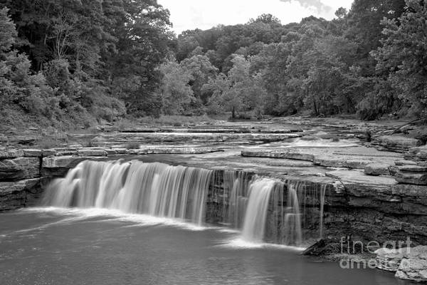 Photograph - Spring At Lower Cataract Falls Black And White by Adam Jewell