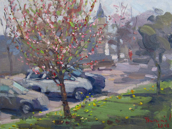 Wall Art - Painting - Spring At Main St North Tonawanda by Ylli Haruni