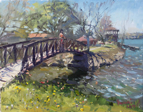 Lake House Painting - Spring At Niawanda Park by Ylli Haruni