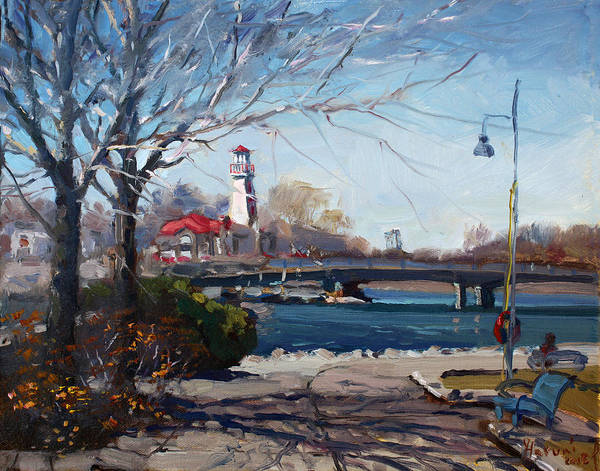 Lighthouse Painting - Spring At Port Credit by Ylli Haruni