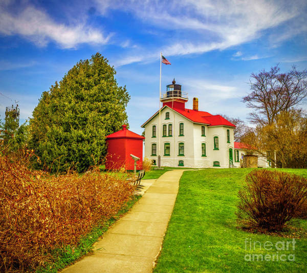 Photograph - Spring At The Grand Traverse Light by Nick Zelinsky