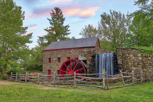 Photograph - Spring At The Sudbury Grist Mill by Juergen Roth