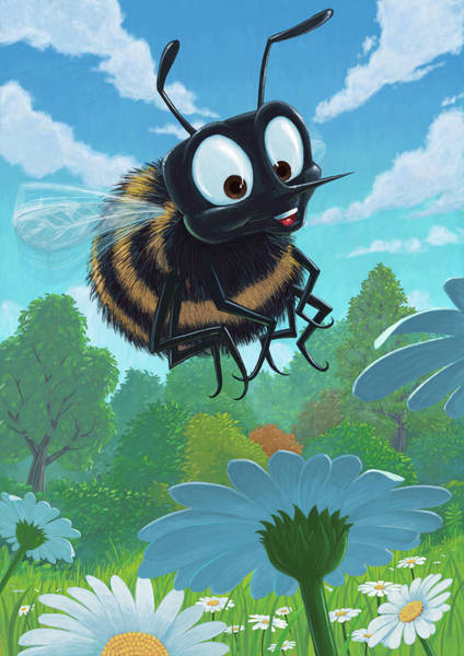 Painting - Spring Bee by Martin Davey