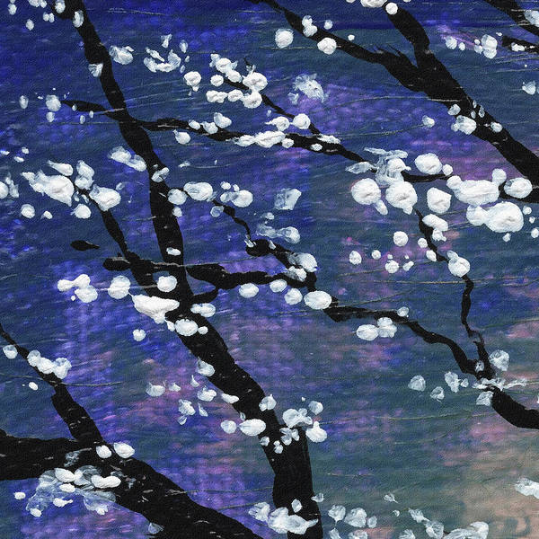 Ultramarine Blue Painting - Spring Blossoms by Irina Sztukowski