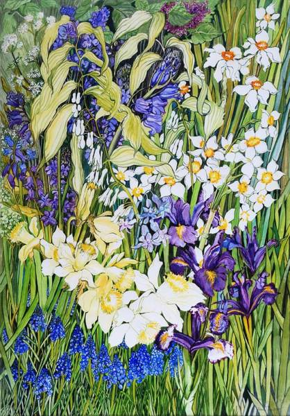 Wall Art - Painting - Spring Border by Joan Thewsey