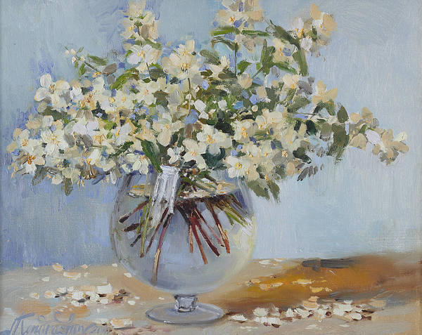 Painting - Spring Bouquet Of Jasmine by Ilya Kondrashov