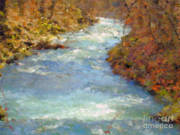 Brook Mixed Media - Spring Brook by Miroslav Nemecek