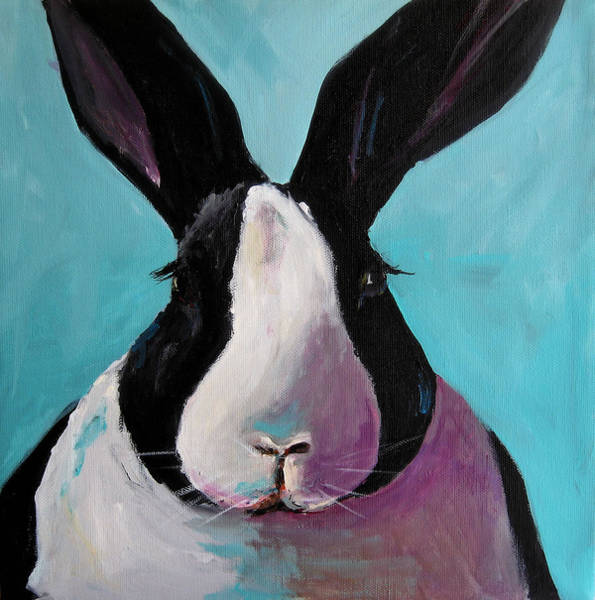 Wall Art - Painting - Spring Bunny by Cari Humphry