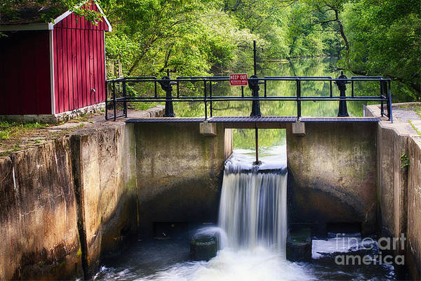 Spring Canal Lock Scene  Art Print by George Oze