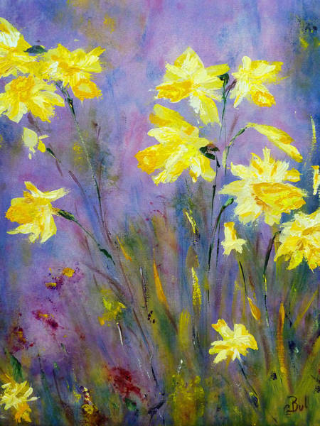 Painting - Spring Daffodils by Claire Bull