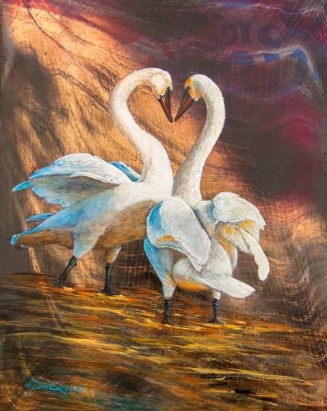 Trumpeter Swan Painting - Spring Dance by Dee Carpenter