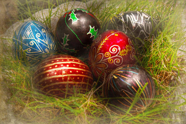 Photograph - Spring - Easter - Easter Eggs  by Mike Savad
