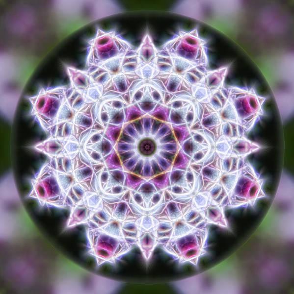 Digital Art - Spring Energy Mandala 1 by Beth Sawickie