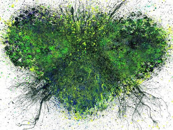 Brain Cell Painting - Spring Equinox In The Lost Land Of Mu #527 by Rainbow Artist Orlando L