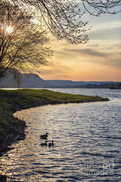 Photograph - Spring Evening At East Lake Winona by Kari Yearous