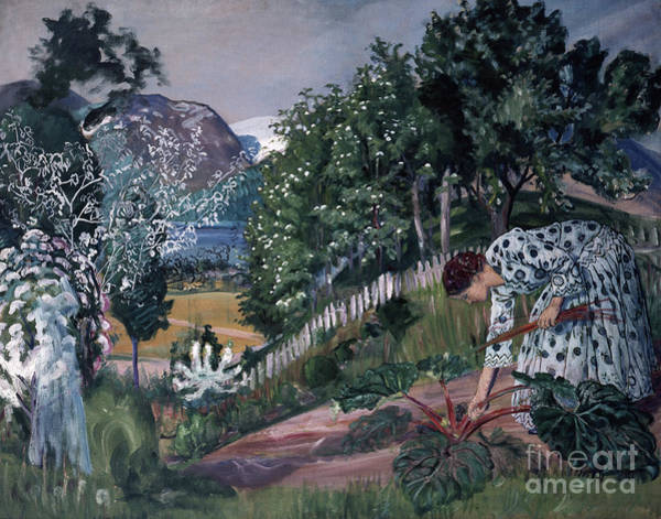 Nikolai Astrup Painting - Spring Evening In Joelster by Nikolai Astrup