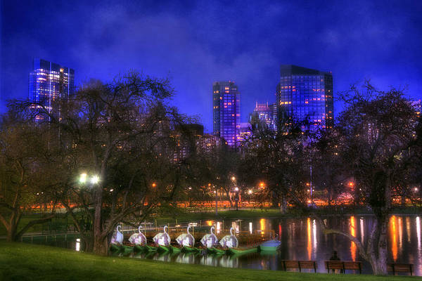 Wall Art - Photograph - Spring Evening In The Boston Public Garden by Joann Vitali
