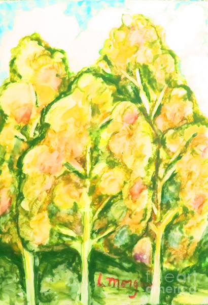 Painting - Spring Fantasy Foliage by Laurie Morgan